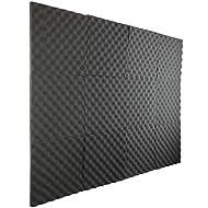 """New Level 12 Pack- Acoustic Panels Studio Foam Egg Crate 1"""" X 12"""" X 12"""""""