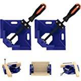 TAIWAIN 2pcs Right Angle Clamp, 90 Degree Corner Clamp Vice Grip Woodworking Quick Fixture Tool, Aluminum Alloy Corner…