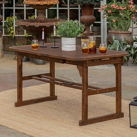 Amazon.com: Juego de 2 sillas para patio de madera de acacia ...