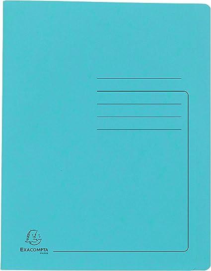 Exacompta 39999E Cartelletta con pressino in cartoncino lucido 355 gm/² con stampa di righe sulla copertina per archiviare o presentare fino a 350 fogli di formato A4 Giallo