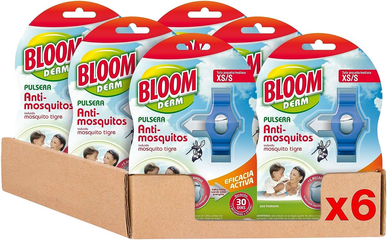 Bloom Repelente Pulsera XS/S - Pack de 6, Total: 6 Unidades