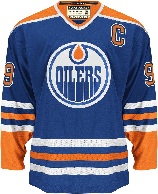 adidas NHL Wayne Gretzky Edmonton Oilers Heroes Hockey Authentic Vintage Jersey