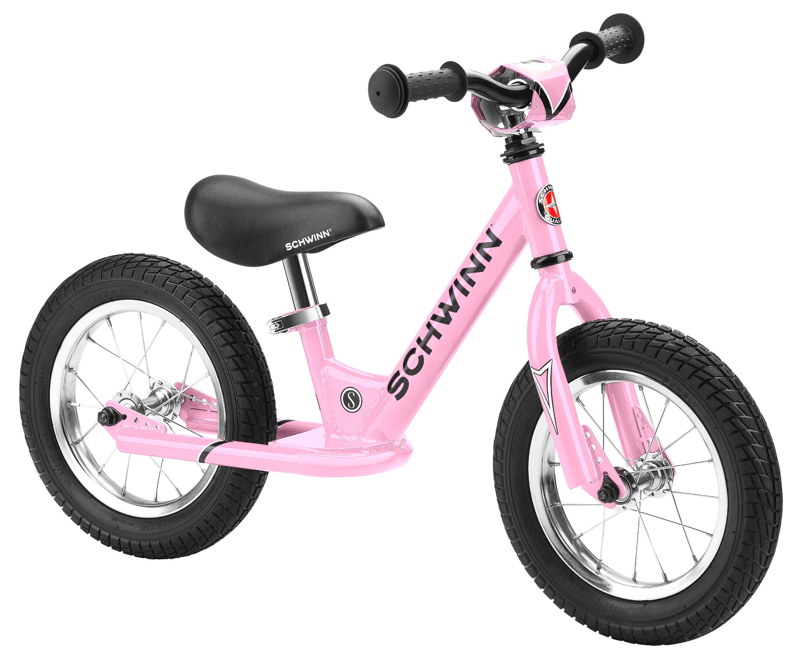 Schwinn Balance Bike, 12 inch wheel size, stride bike Ages 2-4 Pink