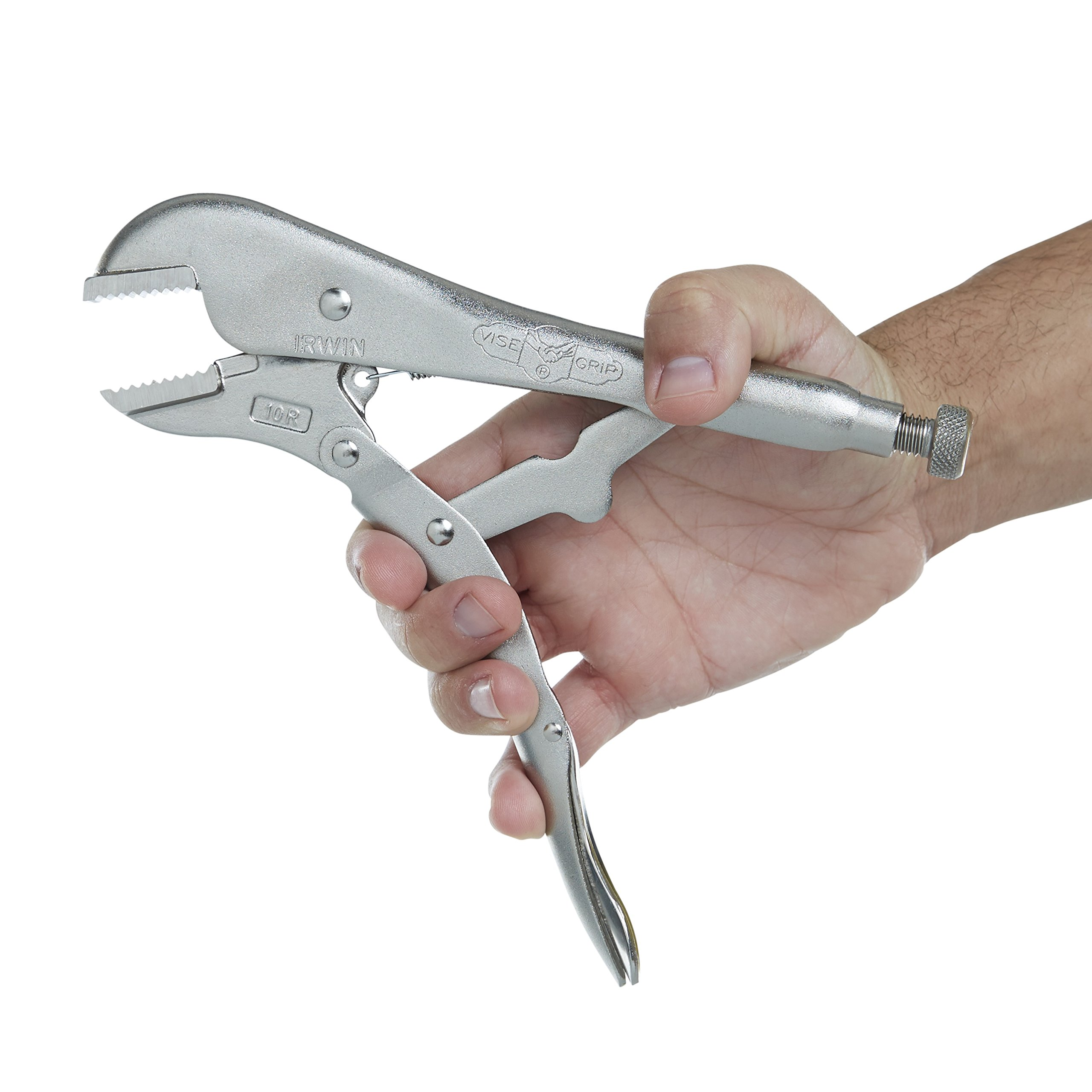 IRWIN Tools VISE-GRIP Locking Pliers, Original, Straight Jaw, 10-inch (102L3) by Irwin Tools (Image #4)