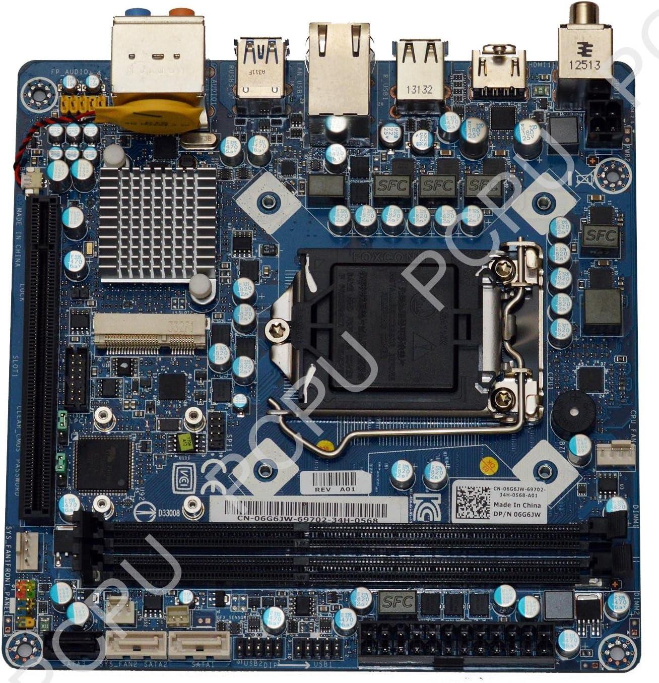 Dell Alienware X51 V2 Mini-ITX Intel CPU 115x Desktop Motherboard 6G6JW 06G6JW