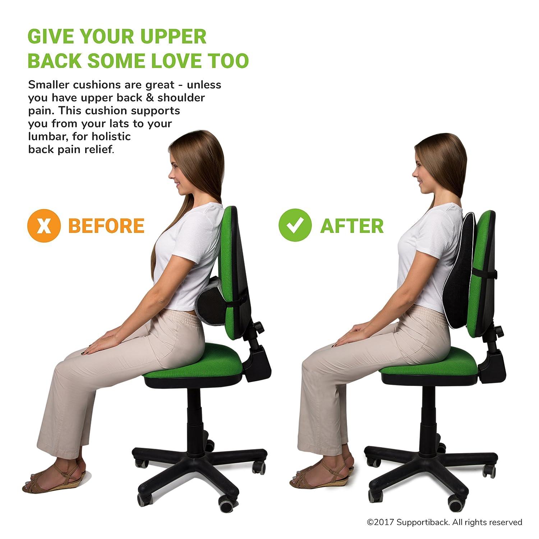 supportibacka posture therapy memory lumbar cushion ergonomic