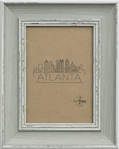 4x6 Picture Frame Distressed Grey - Wall Mount/Desktop Display, Frames by EcoHome