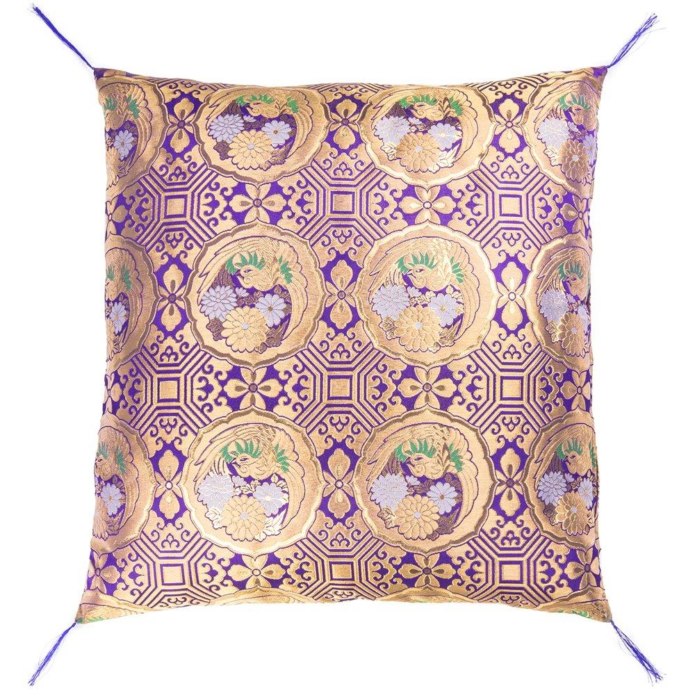 『日本製』 仏前座布団 鳳凰 【夫婦判紫色】 B01KZ2EH88 紫色 紫色