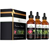 Essential Oils Gift Set - Aromatherapy Indulgence - Ylang Ylang, Rose and Bergamot - Makes the Perfect Valentines Day Gift - Therapeutic Grade 1 fl oz bottles - Premium Select by Essential Oil Labs