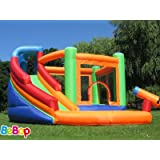 BeBoP Spin Combo Large Bouncy Castle and Water Slide