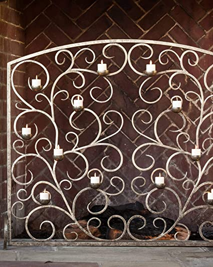 Super Tea Light Fireplace Screen Amazon Co Uk Kitchen Home Interior Design Ideas Clesiryabchikinfo
