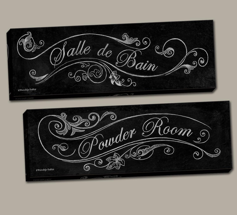 Lambris Pvc Salle De Bain Bricoman ~ Amazon Com French Powder Room And Salle De Bain Black And White
