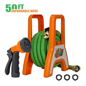 Garden Expandable Hose with Portable Hose Reel