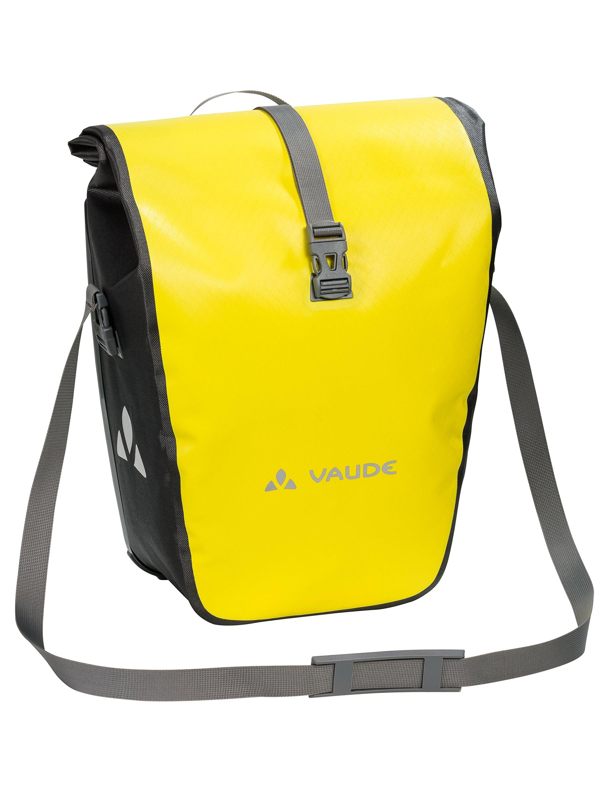 VAUDE Aqua Back – Juego de 2 bolsas para bici adaptables a la carga e impermeables, Amarillo (Canary), Talla única