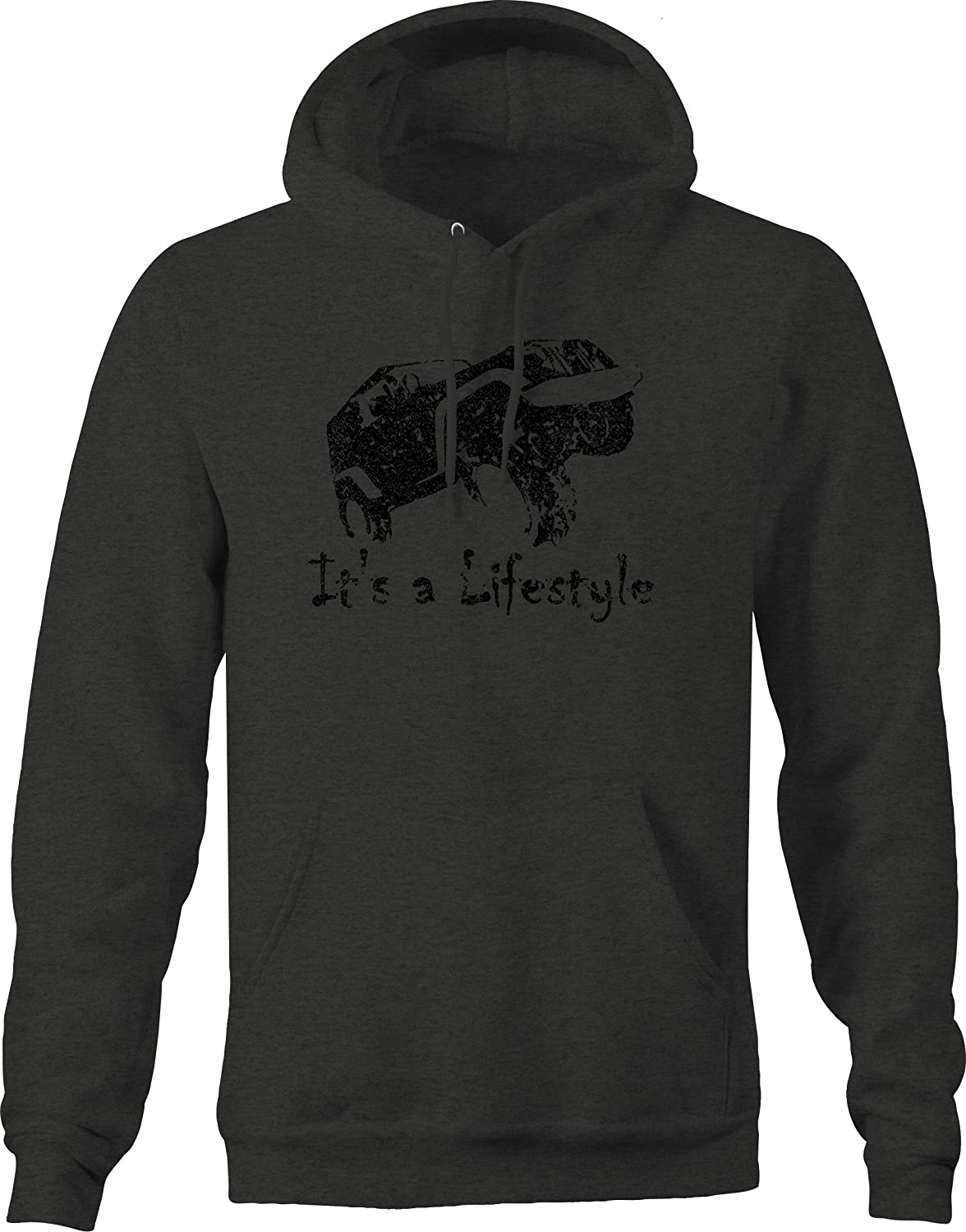 Retro Its a Lifestyle American Off-Road Funny Graphic Hoodie for Men