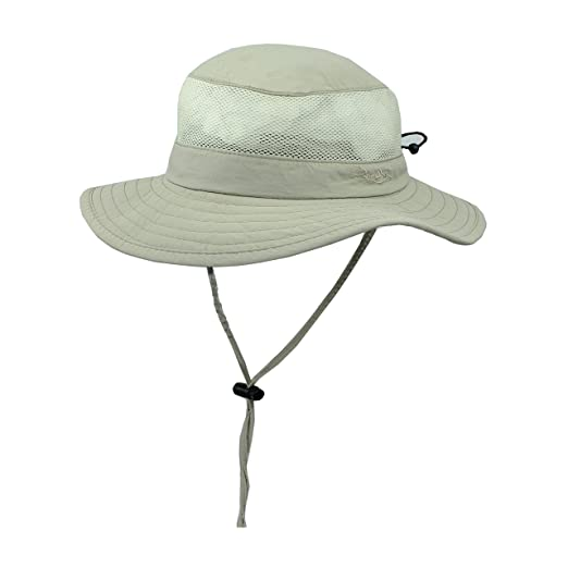 13629a1cb56 Amazon.com  Foldable Boonie Fishing UV Sun Hat w Vented Mesh