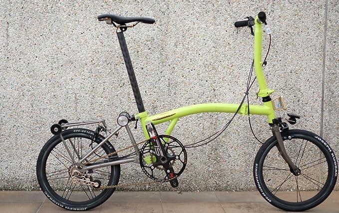 Tija de asiento de carbono H&H 12K 31,8 mm x 520 mm para bicicleta plegable Brompton - Dino Kiddo: Amazon.es: Deportes y aire libre