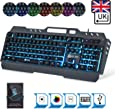 KLIM Lightning - New - QWERTY Hybrid Keyboard Gamer Video Games Gaming Keyboard PC, PS4 & Xbox One + 5-Year Warranty - Metal Frame - Choice of 7 Colours [ New 2019 Version ]