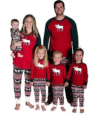 0447719c799eb Pyjama Ensemble Noel Famille Père Noël Mère Garçon Fille du Nouveau-né Bébé  Pyjamas Deux
