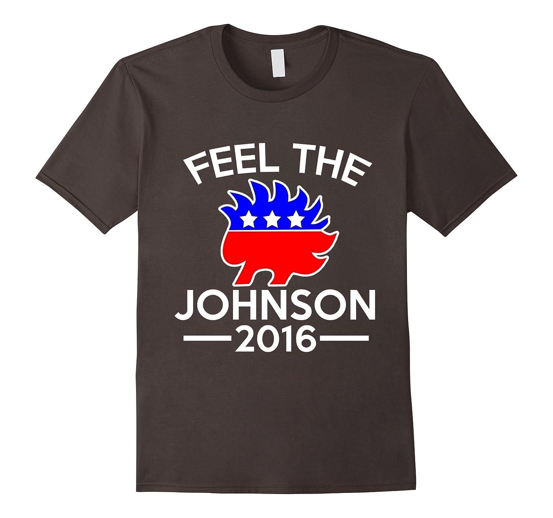 Feel The Johnson 2016 T Shirt - Gary Libertarian Hedgehog-RT