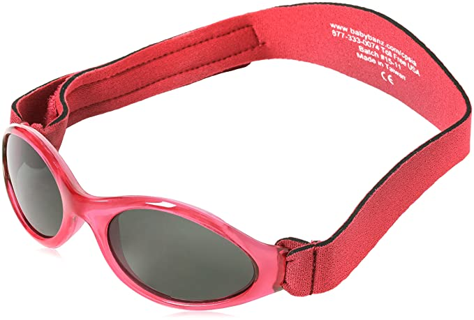 Baby Banz - Gafas de sol Ovaladas para niños, Red, 0-2 anos