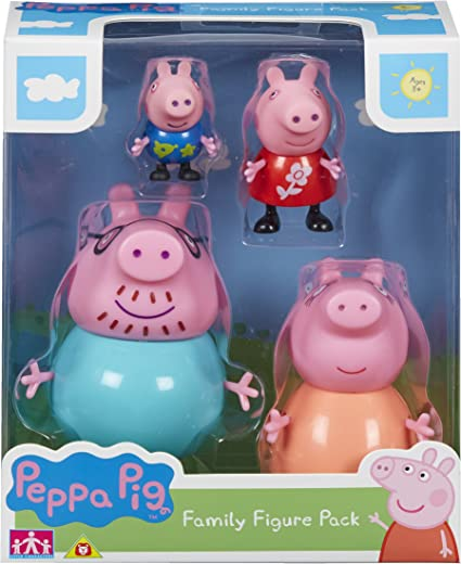 Peppa /& George Peppa Pig Family figures-Little Characters Toys-Mummy Daddy