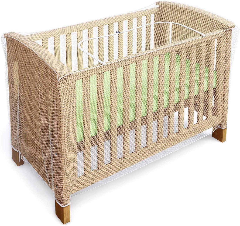 Mosquitero para cuna, moisés y cama para bebés con zíper con acceso rápido y fácil a su hijo - (de Luigi's)
