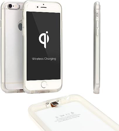 Urcover Custodia protettiva Wireless Qi compatibile con Apple iPhone 6 Plus/6s Plus Back-Case TPU Scocca rigida Cover morbida Carica a Induzione in ...