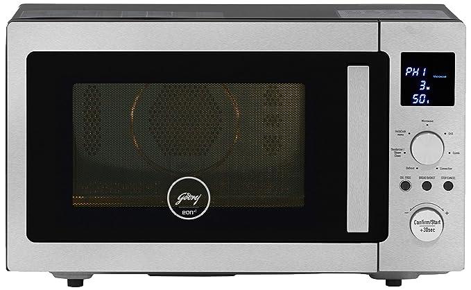 Godrej 28 L Inverter Convection Microwave Oven (GME 528 CIP1 QM Plain Elec, Silver)