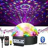 Luci da Palco, GUSODOR 9 Colori Luci Discoteca Palla da Discoteca Mini Magica Fase Ristallo Rotante Sfera LED Effetto per KTV Discoteca Bar Club Ntale DJ Magic Ball Cristallo Attivazione Vocale