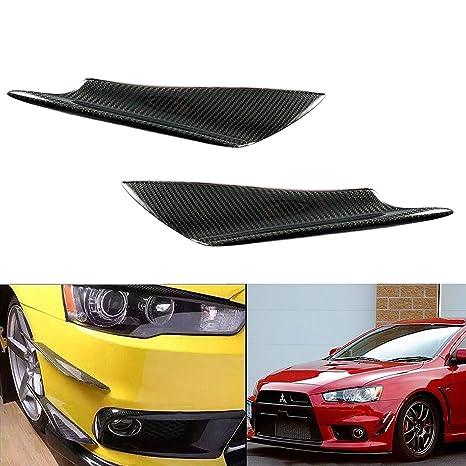 1 par de fibra de carbono parachoques delantero Canards divisores aletas Universal Fit Car: Amazon.es: Coche y moto