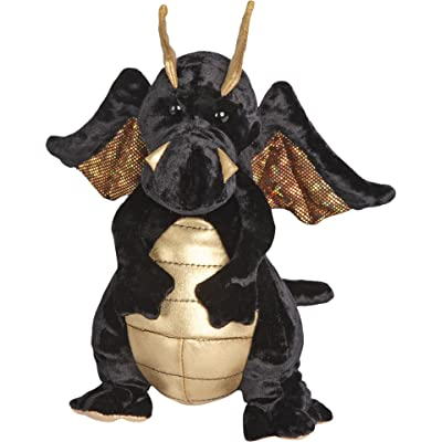 Douglas Merlin Black Dragon Plush Stuffed Animal: Toys & Games