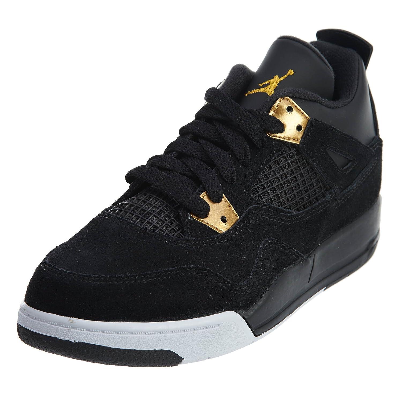 new arrivals 2705e 6bcaf Jordan Nike 4 Retro BP Black/Metallic Gold/White 308499-032
