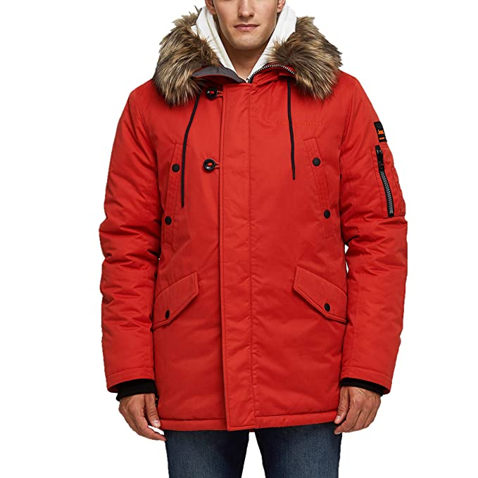 781b2a6ffdb TIGER FORCE Parka Coat Winter Men Thicken Hooded Jacket Quilted Ski  Snowjacket Extremely Cold