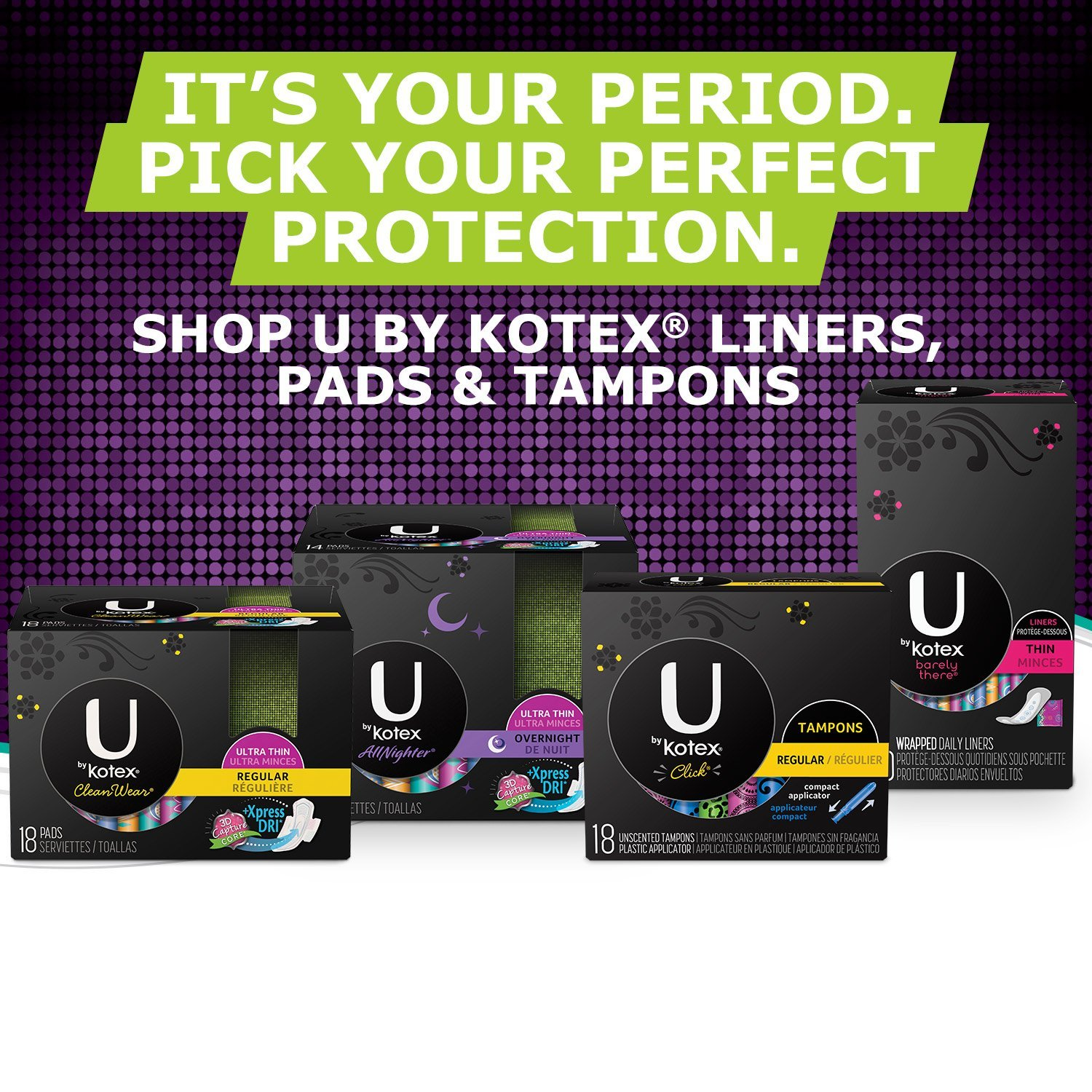 U by Kotex Sleek Tampons, Super Absorbency, Fragrance-Free, 34 Count - Pack of 6 by U by Kotex (Image #9)