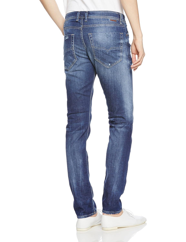 953181ae Diesel Men's Jeans Tepphar Slim Fit Cotton Vantage 00CKRI-084MX-1 Slim  Carrot Blue Mid-Rise 00CKRI-084MX-1
