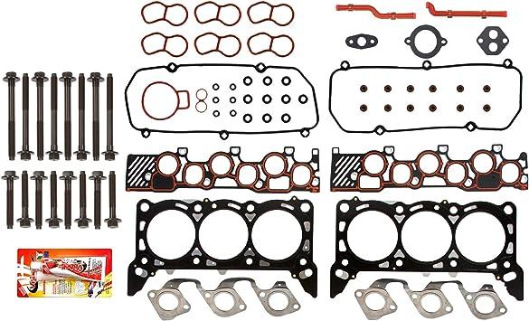 Head Gasket Set Bolt Kit Fits 01-04 Ford E150 E250 F150 4.2L V6 OHV 12v TRITON VIN 2
