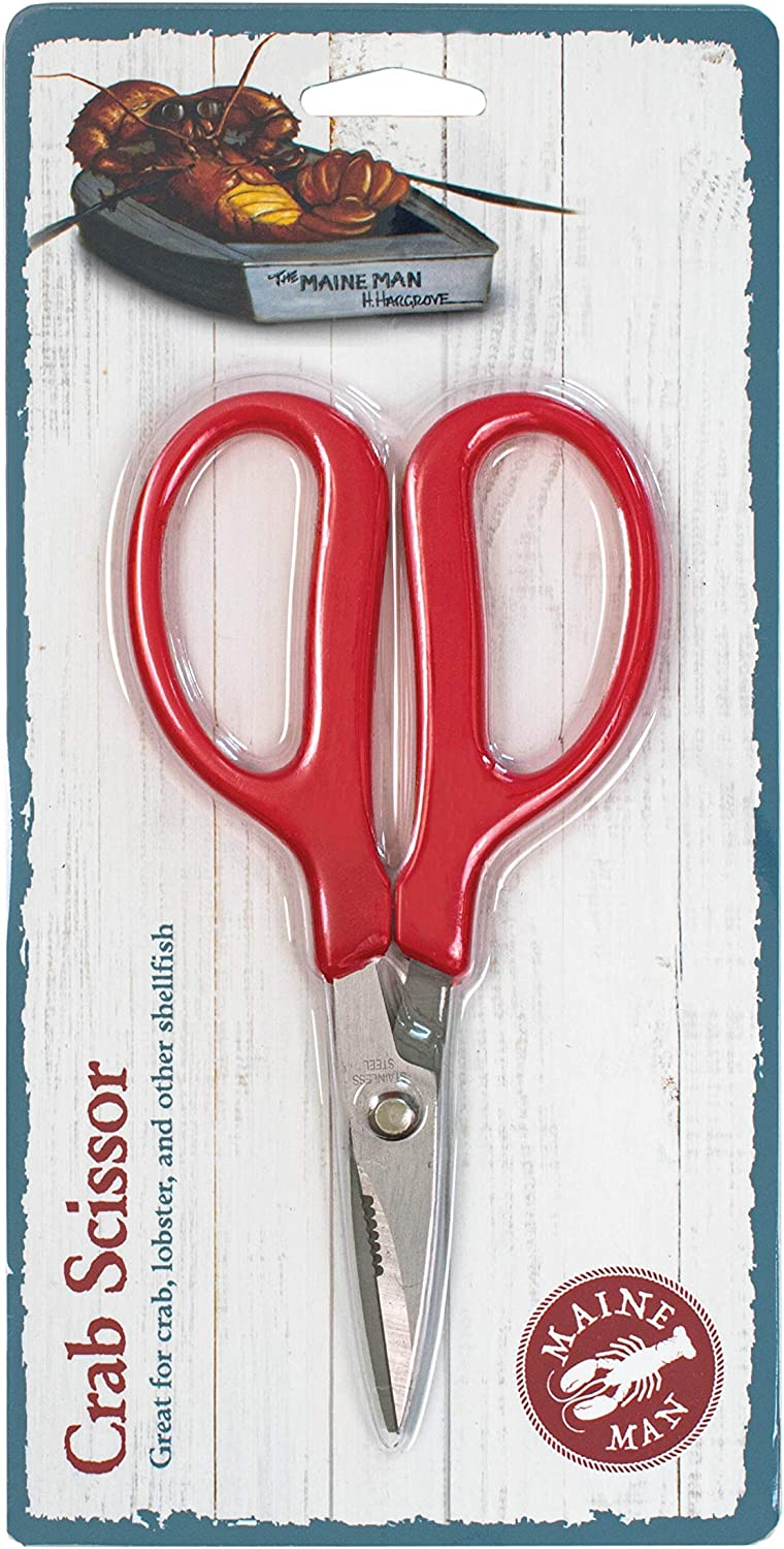 Maine Man Crab Seafood Scissors, Japanese Stainless Steel Blades, 6.25-Inches x 3.25-Inches