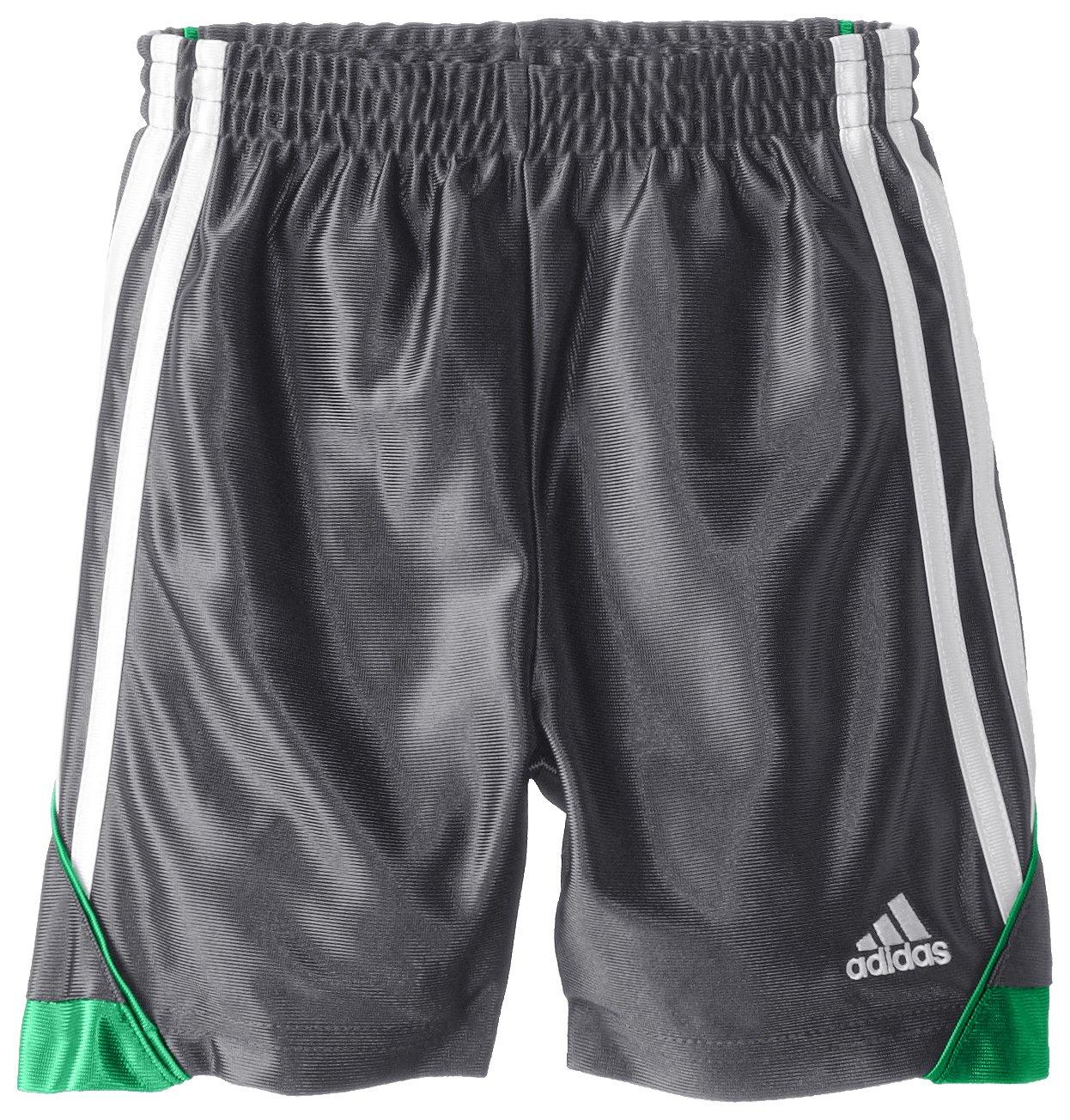 Adidas Little Boys' Speed Short, Dark Grey, 5 by adidas (Image #1)