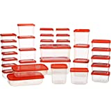 All Time Polka Plastic Container Set, 31-Pieces, Red