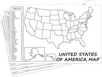 Homeschool United States of America Large Paper Map  Learn States /& Capitals