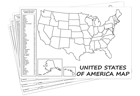 Amazon.com : United States Map - USA Poster, US Educational Map ...