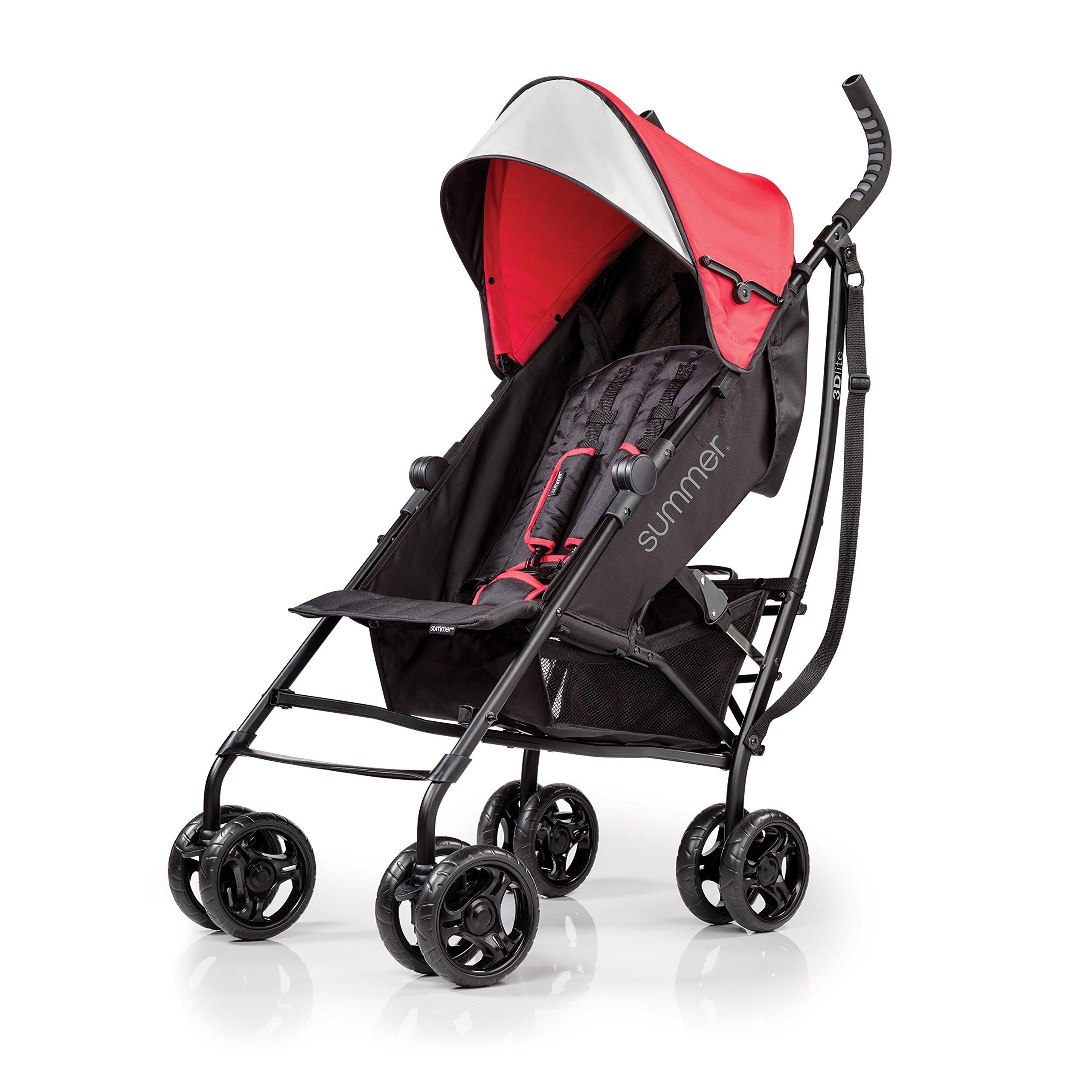 Summer Infant 3D lite Convenience Stroller, Red