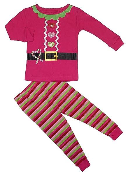 koala kids pink santa suit baby girls christmas pajamas 2 piece set 18 months