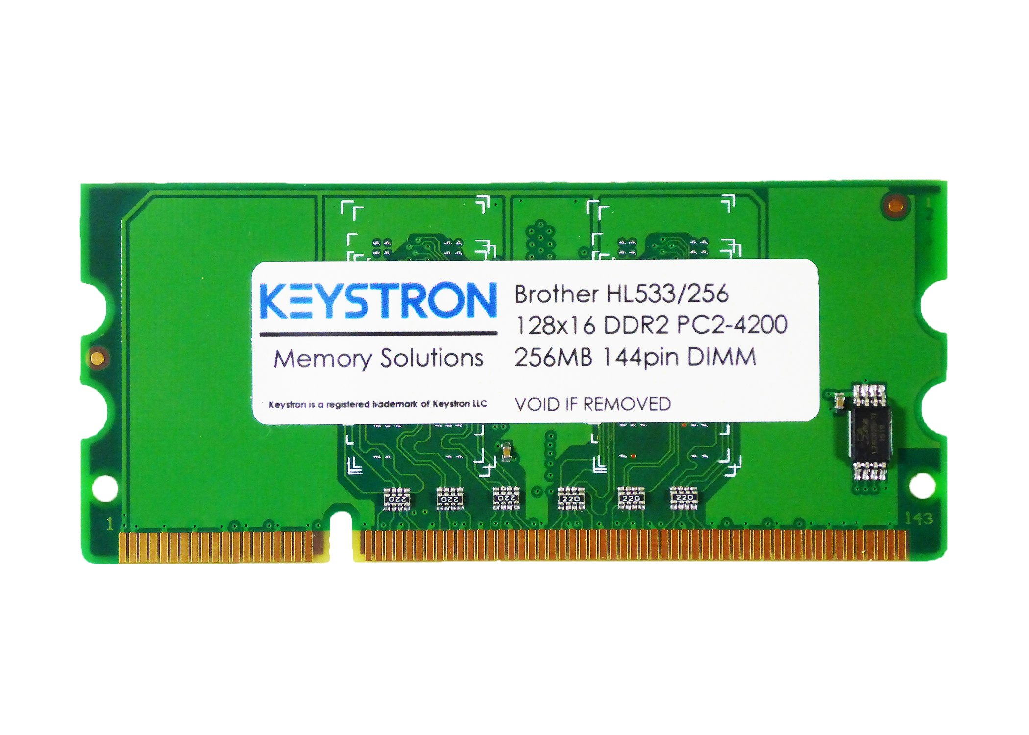 Keystron 256MB DDR2 144pin 16bit Memory Upgrade for Brother Laser Printer MFC-L8600CDW, MFC-L8850CDW, MFC-L9550CDW