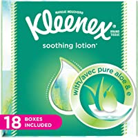 Kleenex Lotion Facial Tissues with Aloe & Vitamin E, Cube Tissue Box, 18 Count