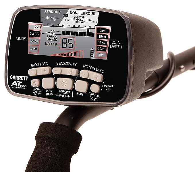 Detector De metales Garrett At Pro-Equipo De gama alta frecuencia De trabajo a 15 Khz. Sensibilidad sobre metales preciosos, resistente al agua hasta 3 ...