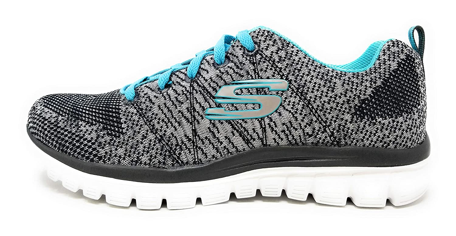 Charcoal Turquoise Morning Breeze Skechers Graceful 2.0 Magnificent Journey Walking shoes