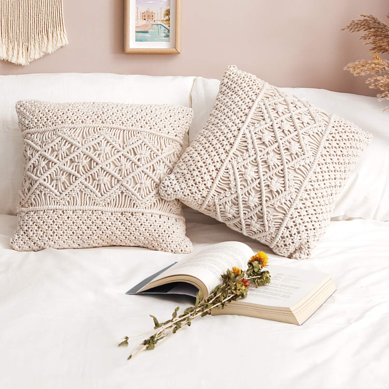 Amazon.com: Mkono - Funda de cojín para sofá o cama (relleno ...