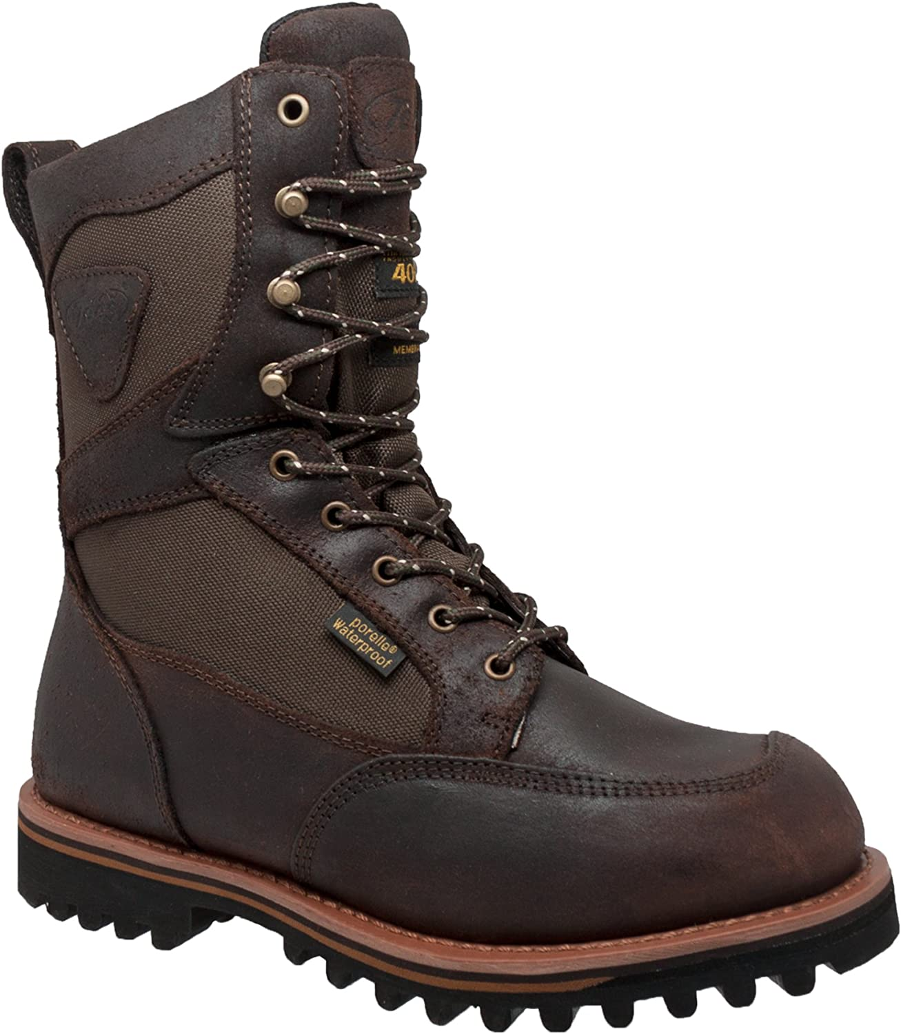 AdTec Mens Dark Brown 11in Cordura Insulated Leather Hiking Boots 10.5 W